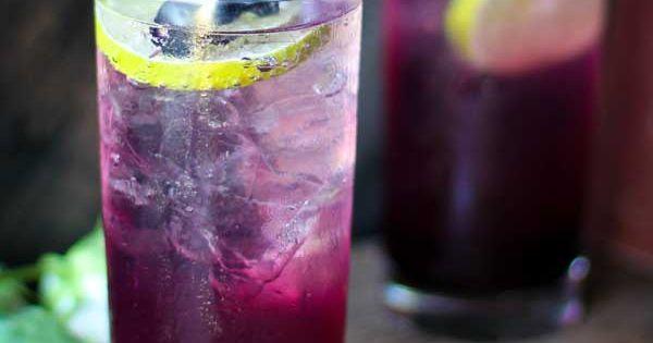 Blueberry lavender fizz