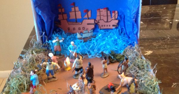 Columbus >> Columbus diorama. Christopher Columbus' adventure to America. | Project | Pinterest ...