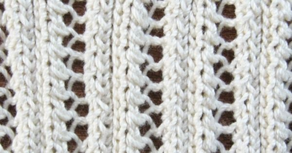 Eyelet Heart Knitting Pattern : Eyelet Lace Ribbing Knitting Pattern Knitting ...