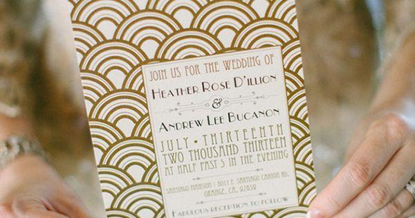 Paper Suites | Art Deco Wedding Invitation