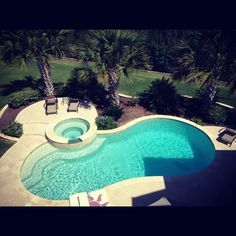 Hot Tub On My Kidney Shaped Pool Google Search Kidney Shaped Pool Pool Landscaping Swimming Pools Backyard