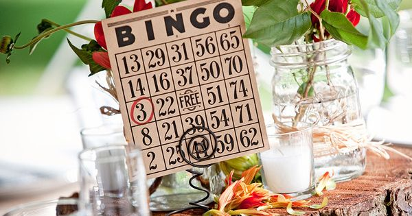 Table Numbers ~ Using a BINGO card. So so so cute! Photography