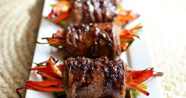 Balsamic Glazed Steak Rolls   Recipe   Steak Rolls, Steaks and Sirloin ...