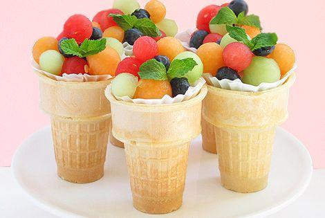 Meyve Salatası Dondurma Külahı / Fruit Salad Ice Cream Cone fruitsalad meyvesalatası