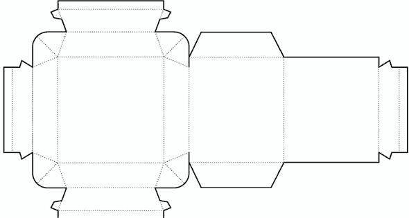 Die cutting image of cylinder box templates for Cylinder packaging template