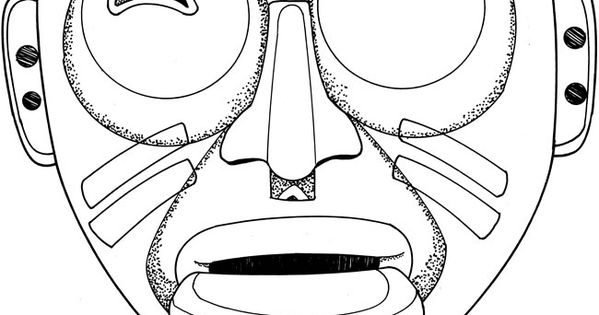 indian tribal masks coloring pages - photo#10