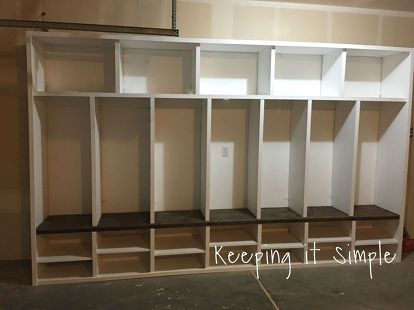 Diy Garage Mudroom Lockers With Lots Of Storage Garageorganization Mudroom Lockers Diy Locker Mud Room Storage
