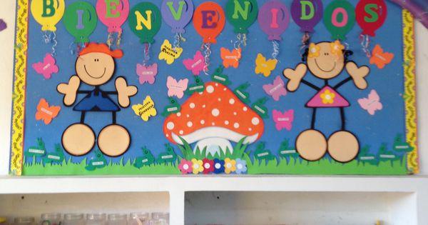 Mi sal n de preescolar bienvenida para el nuevo ciclo for Diario mural en ingles