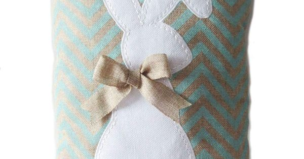 Kirklands Throw Pillow Covers : Burlap Easter Bunny Pillow-Blue Baby Pinterest Pillow covers, Bunnies and Christmas