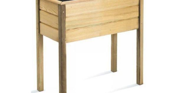 bac a fleurs rectangulaire en bois sur pieds matignon 80 jardipolys bac fleur pinterest. Black Bedroom Furniture Sets. Home Design Ideas