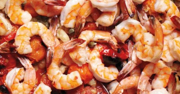 Broiled Shrimp with Tomatoes and White Beans | Recipe | Broiled Shrimp ...