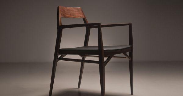 Beech Chair With Armrests Aya By Branca Lisboa Design