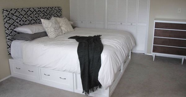 Make your own bed frame with storage cool ideas for the for Make your own bed frame ideas