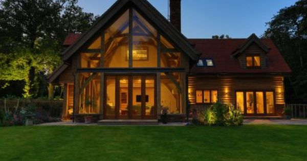 A Traditional One And A Half Storey Oak Framed House House Styles Oak Frame House House Exterior