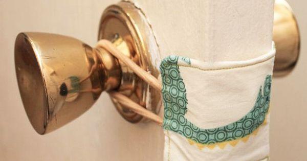 How-To: Nursery Door Latch Cover...works great for a classroom door too! baby nursery ideas diy door