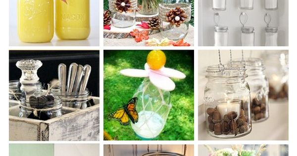 DIY:: 110+ Mason Jar Projects (each with tutorials)! masonjars diy howto