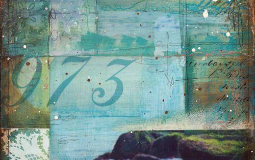"""Little Cape Ann No. 2 - 8"""" x 24"""" original nautical beach"""