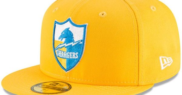 Los Angeles Chargers New Era Omaha Throwback 59fifty Fitted Hat Gold Fitted Hats New Era Los Angeles Chargers