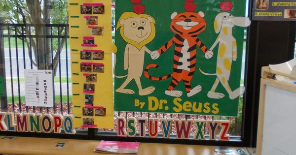 Classroom Enhancement Ideas ~ Preschool dr seuss room enhancement apples up on top