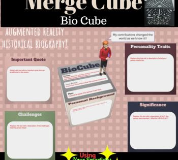 Merge Cube Biocube Reading Display Middle School Libraries