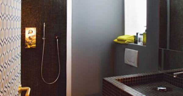 Optimiser l espace dans un appartement de 35 m2 salle de - Minuscule salle de bain ...