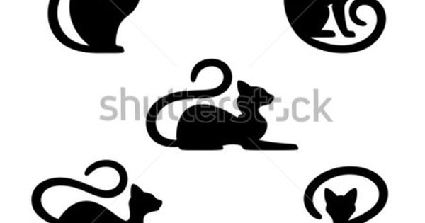 Silhouette cat photos et images de stock shutterstock - Dessin silhouette chat ...