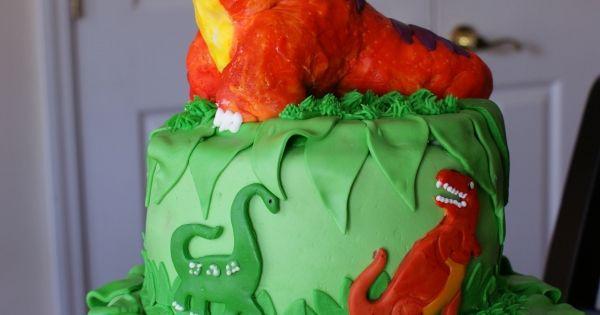 Dinosaur Cake - This was a cake I made for a three