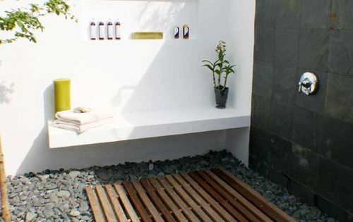 Sometimes, thinking outside the box has big rewards! An outdoor shower is