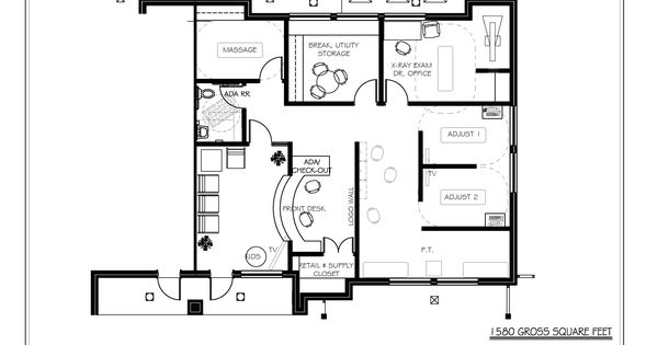 Chiropractic Office Floor Plan Semi Open Adjusting And