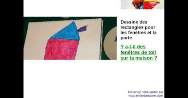Dessin du0027une maison avec des formes géométriques pour enfant dès 5