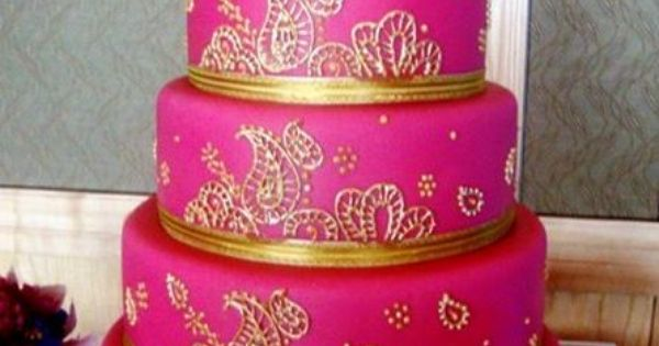 how to decorate a wedding cake with artificial flowers pink and glorious gold make for one bold and beautiful 15665