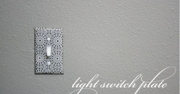 Decoupage Light Switch Plates {Tutorial}