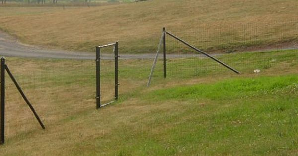4 39 x100 39 standard deer fence by deerbusters 600 for Easy fence installation