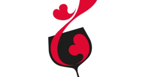 #Vinilo Para Cafetería Con Dibujo Copa De Vino Y Corazón