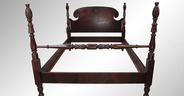 antique pineapple flame mahogany poster bed  u2013 full size