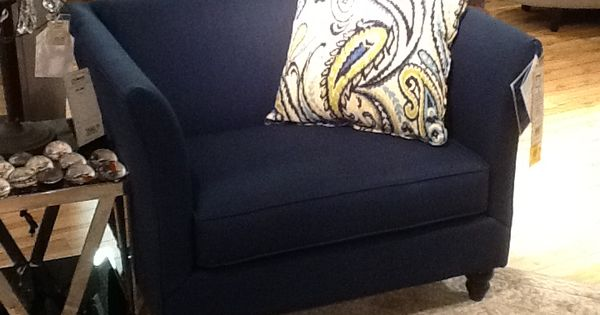 Navy Blue Chair And A Half This Has A Matching Sofa And