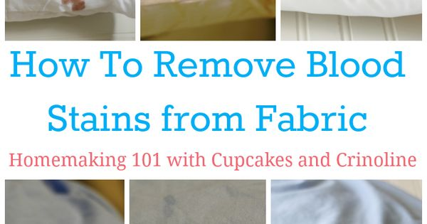 how to get out blood stains from fabric