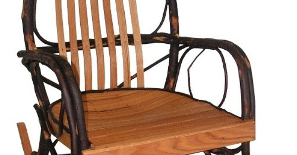 Handmade Rustic Rocking Chair By Hickory Mountain