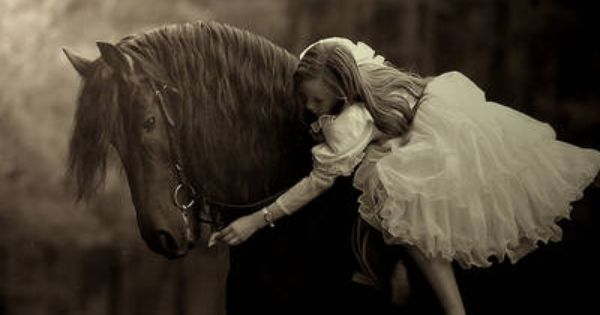 Horse and little girl