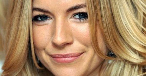 Perfect winter blonde on Sienna Miller. hair winterblonde blonde highlights lowlights