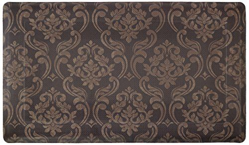 Chef Gear Chain Damask Anti Fatigue Comfort Memory Foam Chef Mat 18 By 30 Inch Chocolate Linen Chef Gear Http Ww Damask Kitchen Mat Memory Foam Kitchen Mat Chef gear anti fatigue kitchen mat