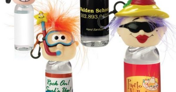 The 1 Oz Hand Sanitizer W Goofy Head Clip Is A Perfect Giveaway
