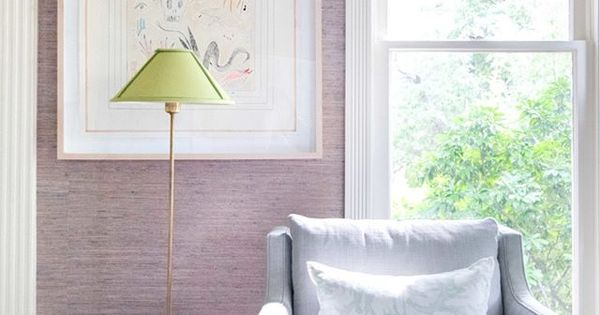Artwork By New Orleans Artist Ansley Givhan On Lavender Grasscloth Wallpaper At Blue Print Store Skirte Girls Room Wallpaper Living Room Den Green Lamp Shade