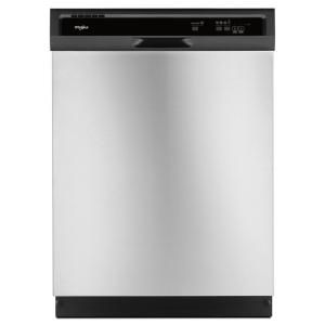 Whirlpool Front Control Built In Tall Tub Dishwasher In Stainless Steel With 1 Hour Wash Cycle 55 Dba Wdf330pahs The Home Depot Built In Dishwasher Stainless Steel Dishwasher Whirlpool Dishwasher