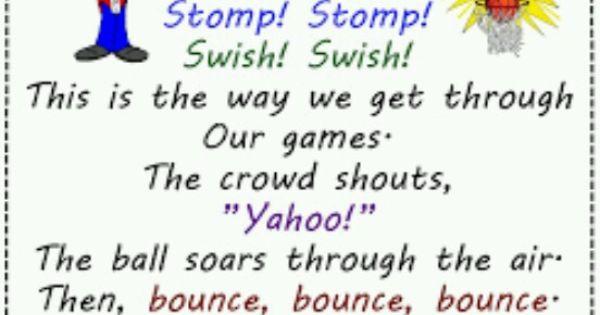 Onomatopoeia Poem The Game School Days School Days Pinterest