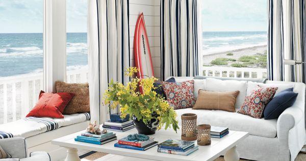 Greg norman 39 s hobe sound beach house l i v i n g r o o m for Ideas para decorar el patio de mi casa