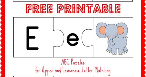 FREE Printable ABC Puzzles Upper