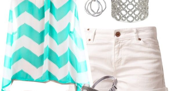 A cute blue tank and white shorts make a great summer outfit, and I love that color