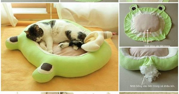 With+a+few+redundant+cloths+and+some+handwork,+you+can+make+a+soft+spot+for+your+lovely+cats+to+lie+on.+Please+continue+to+read+the+full+tutorial.+DIY+Soft+Cat+Bed