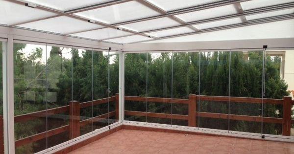 Techo aluminio movil con policarbonato y plegables de - Cristales para techos ...